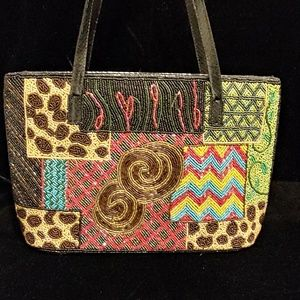 Handbags - Multicolor beaded purse
